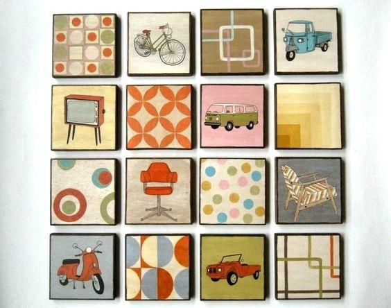 Pintura original muebles y objetos estilo vintage acrilico - Pintura para muebles de madera ...