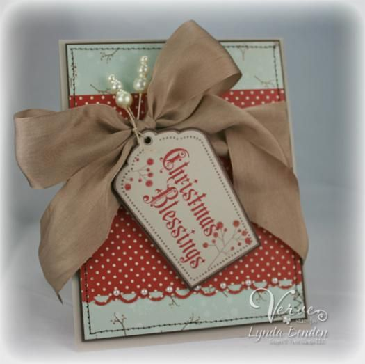 Beige Bow Christmas Blessing