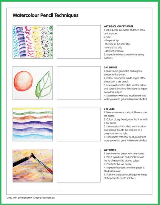 Art Worksheets Watercolor Pencil Art Watercolor Pencils