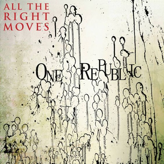 OneRepublic – All the Right Moves (single cover art)