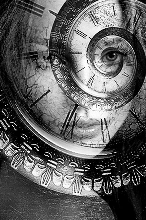 Time... #DoubleExposure #Society6 #TaniaAmrein