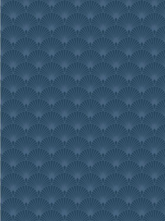 Papier Peint Vinyle Grainé Sur Intissé Gatsby Bleu Mica