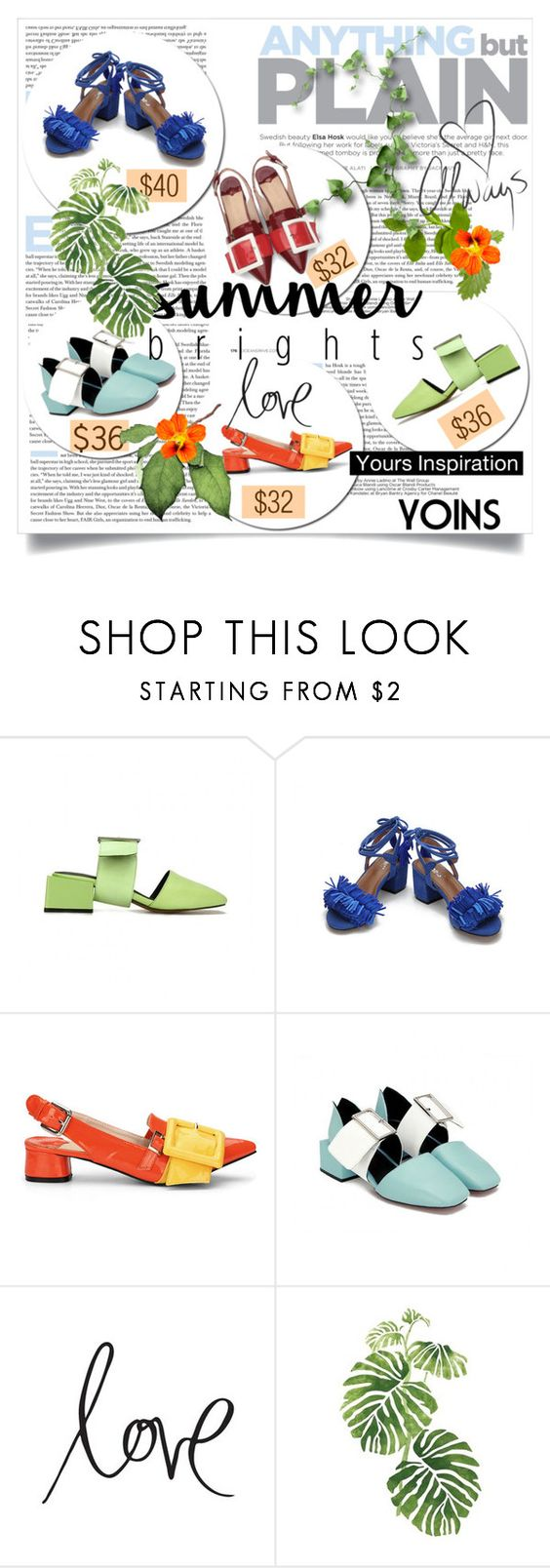 """""""Summer Brights"""" by lacas ❤ liked on Polyvore featuring Love Always, Heidi Swapp, Rainforest, summerbrights, yoins, yoinscollection and loveyoins"""