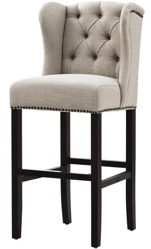 Gorgeous upholstered bar stools in the kitchen add the right amount of elegance. HomeDecorators.com
