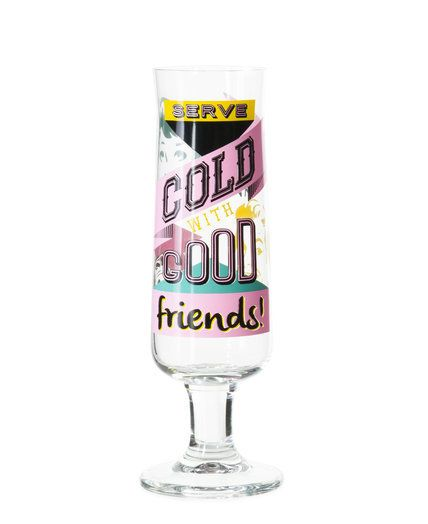 Beer glass with decor