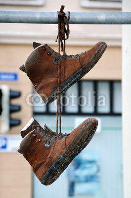 Alte Schuhe, die abhängen. :-)