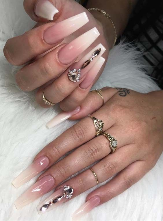 Cutest Natural Looking Ombre Nail Art Designs In 2018 With Images Ombre Nail Designs Ombre Nail Art Designs Ombre Nails