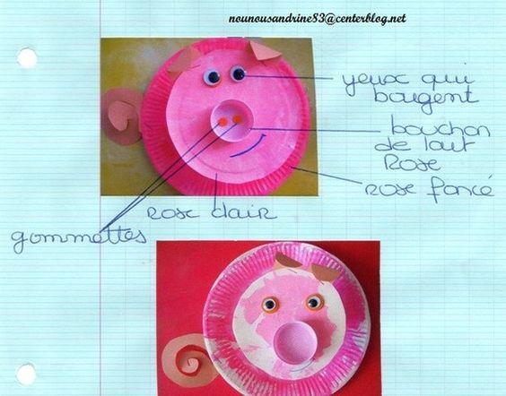 Activit manuelle animaux de la ferme cochon la ferme pinterest animaux et roses - Activite manuelle pour maternelle ...