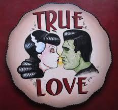 Resultado de imagen de frankenstein and bride kiss