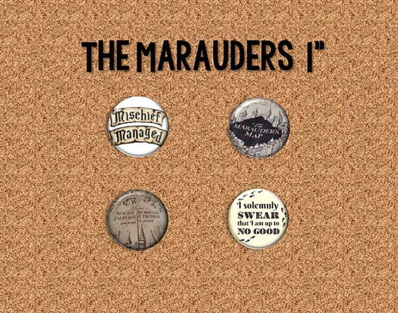 Check out this item in my Etsy shop https://www.etsy.com/listing/272332590/harry-potter-the-marauders-1-pinback