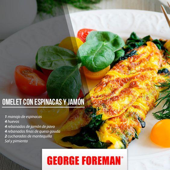 Dale la vuelta a tu desayuno y prepara este delicioso omelet de espinacas. ¡Es riquísimo!: http://bit.ly/1Ww6Tpb Mañana hazlo y verás que no te mentimos. ;)
