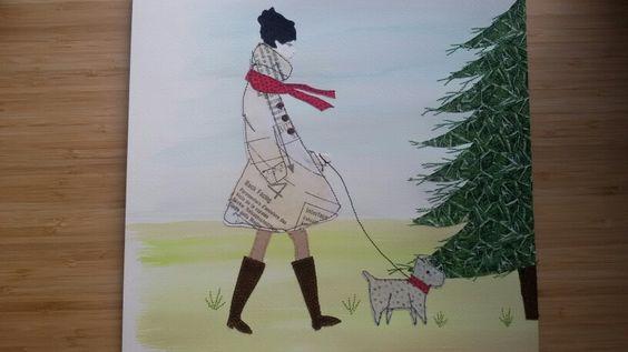 'A Christmas  Walk' - sample Christmas  card