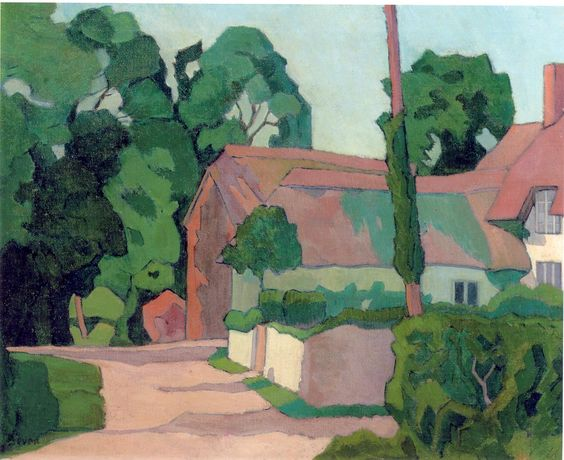 Robert Bevan. A Devon Farm House. ca.1917. Bolham Water area, Devon. This work once belonged to the artist Ethelbert White.