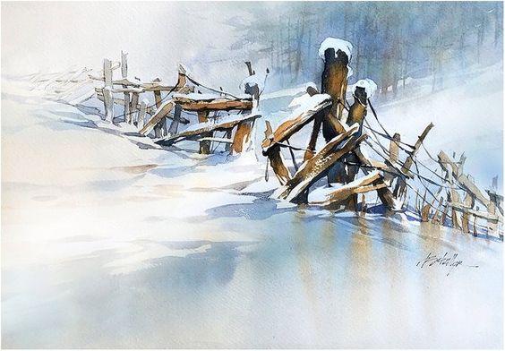 Thomas W Schaller「Snow on Snow」