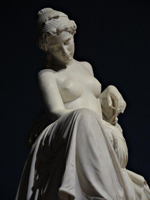 sulphuriclike:Giovanni Duprè, 1817-1882Saffo abbandonata, 1857, marble, 140 cmGalleria Nazionale d'Arte Moderna - Roma