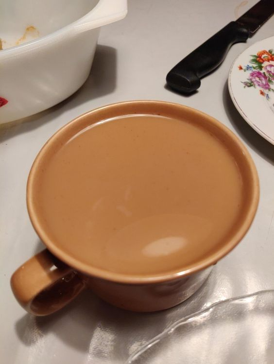 "12. ""This morning, my latte was exactly the same light brown color as my cup"""
