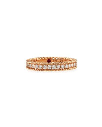 Symphony Collection 18K Princess Diamond Band Ring by Roberto Coin at Neiman Marcus.