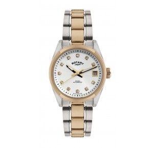 Rotary Havana ladies' stone-set bi-colour bracelet watch