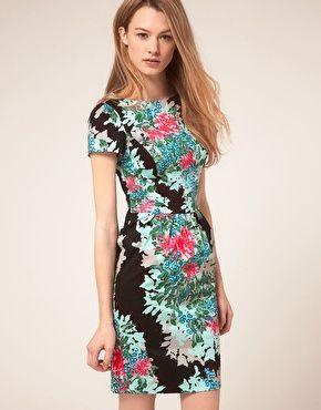 Warehouse tropical print dress $75.39