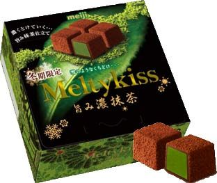 Meiji Meltykiss — Green Tea Flavor $3.50 http://thingsfromjapan.net/meiji-meltykiss-green-tea-flavor/ #green tea chocolate #Japanese chocolate #Japanese snack
