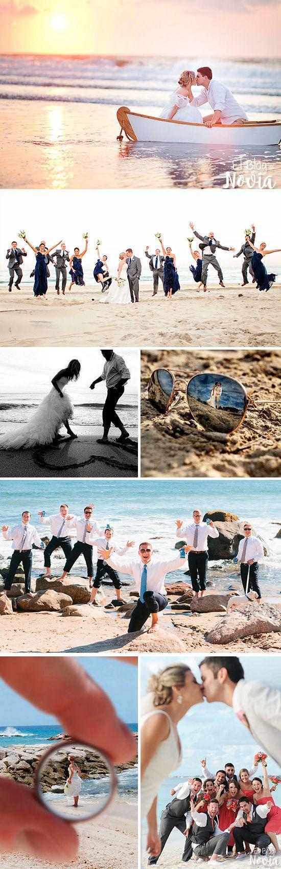 Sesión de fotos de la boda - Ideas para una Boda en la Playa