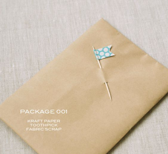 Fabric toothpick flag. So simple and sweet.