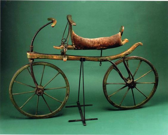 the forerunner of the modern bicycle: this ca. 1818 draisine.