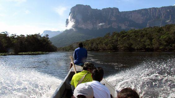 Tepuye no Rio Carrao rumo a Salto Angel - Canaima - Venezuela - Viagem com Sabor