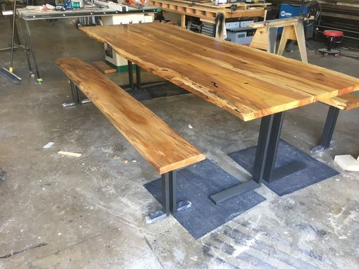 Custom Made Live Edge Pecan Dining Table Farm Table With Images