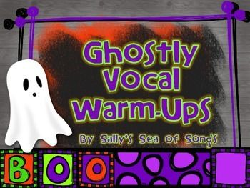 Ghostly Animated Vocal Explorations - Vocal Warm-Ups  Use these ghostly slides as a transition from vocal exploration to traditional vocal warm-ups! As a vocal exploration, students follow the animated lines with appropriate vocal sirens. As a traditional vocal warm-up, the dots on the lines may be thought of as iconic representation for specific pitches. The warm-up patterns may be raised by half-steps and repeated as needed for your singers.: