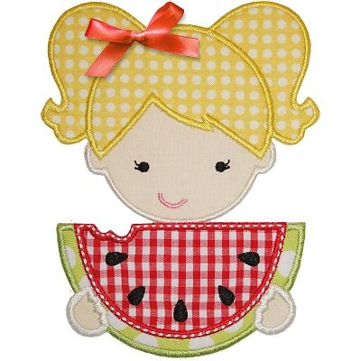 Watermelon Girl Applique