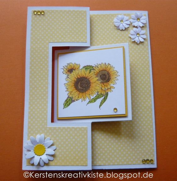 KERSTEN'S  KREATIVKISTE: Sonnenblumen