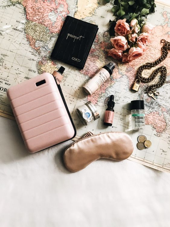 Away Pink Blush Mini Makeup Bag + Travel Beauty Essentials | Travel Flatlay | What's In My Travel Makeup Bag? | Millennielle Lifestyle & Fashion Blog