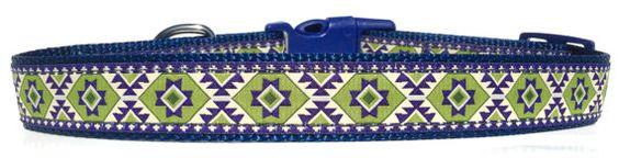 Santa Fe Dog Collar Adjustable Dog Collar by RuffNStuffCollars