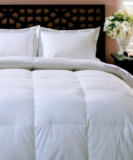 Look at this White 240-Thread Count Down-Blend Comforter on #zulily today!