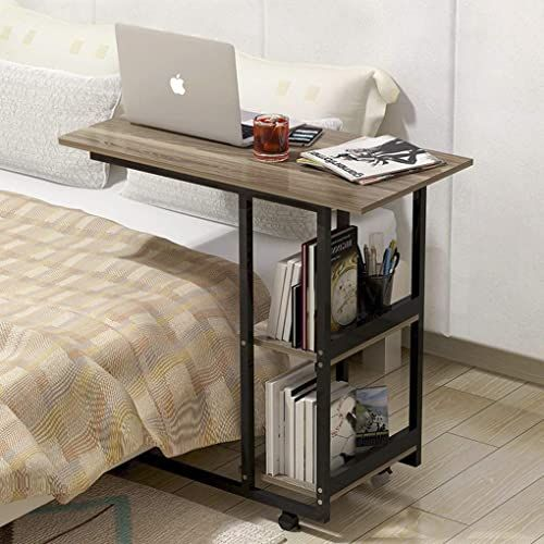 Amazing Offer On Overbed Table Wheels Heavy Duty Movable Couch Sofa End Table 2 Compartment Display Bookcase C Shaped Mobile Laptop Stands Slide Computer Desk Medical Hospital Home Office Use Online In 2020