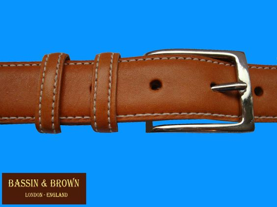 Bassin  Brown - Tan Classic Coloured Belt - Made In England  https://sites.google.com/site/bassinbrown/