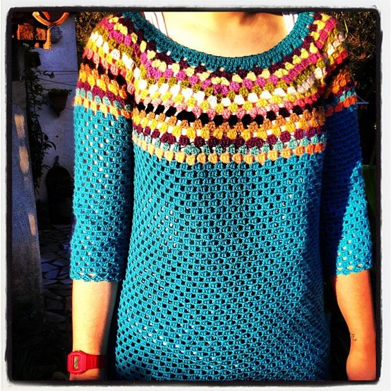 #sweater #pullover #crochet #merinos #inspiration #iphone #instagram #iphoneonly #iphonepics #webstagram - @misscrochet- #webstagram