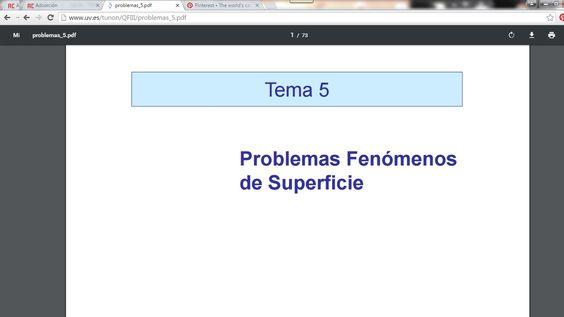 Problemas Fenómenos de Superficie