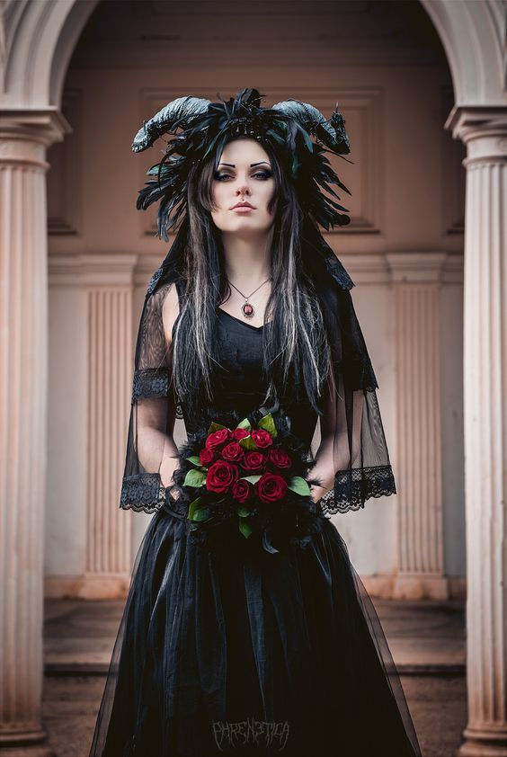 Gothic Bride Stock Image - Image: 25377411