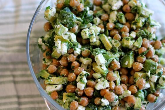 Avocado, Feta and Chic pea salad