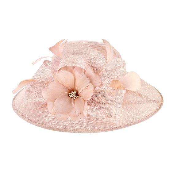 Round Crown Sinamay Dress Hat by San Diego Hat Company