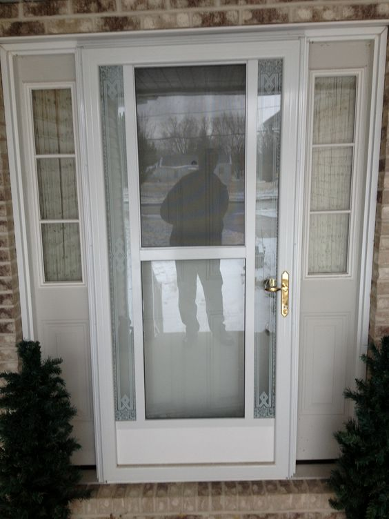 Front doors storm doors and doors on pinterest for Front door with storm door