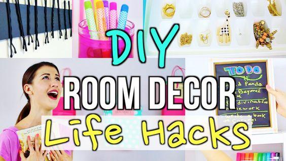 Diy room decor room decor and life hacks on pinterest for Room decor life hacks