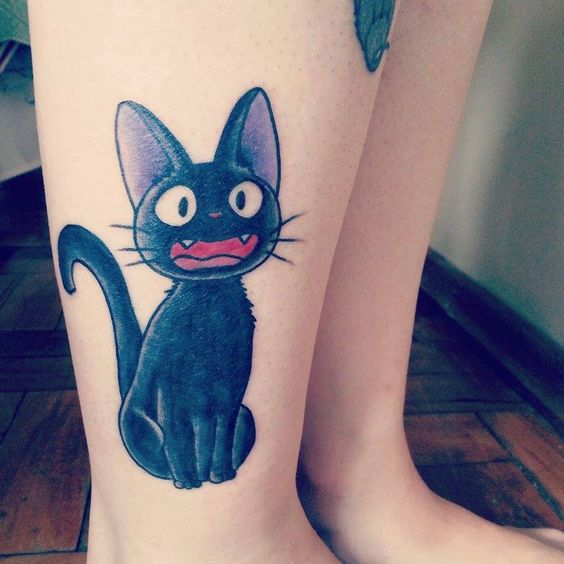Jiji Tattoo | Inked | Pinterest | Tattoos and body art Totoro Thigh Tattoo