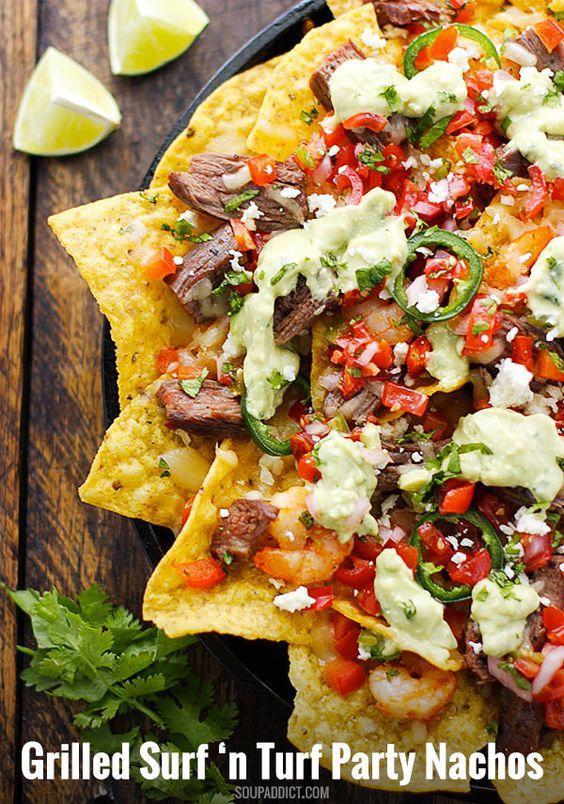 Steak and shrimp, Grilled steaks and Margaritas on Pinterest