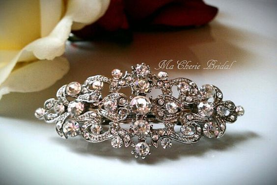 Bridal Hair Clip Flower Girl Hair Clip Wedding by MaCherieBridal, $24.99