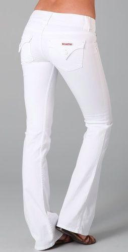 Amazing white Hudson jeans! WANT! <3