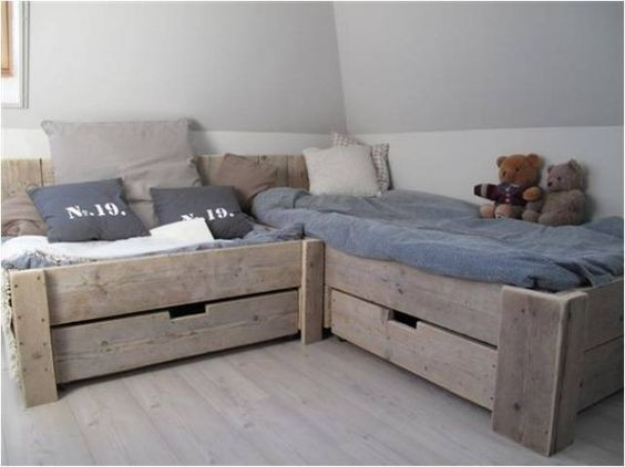 Tweeling Op 1 Slaapkamer : Nice Bunk Beds for Kids