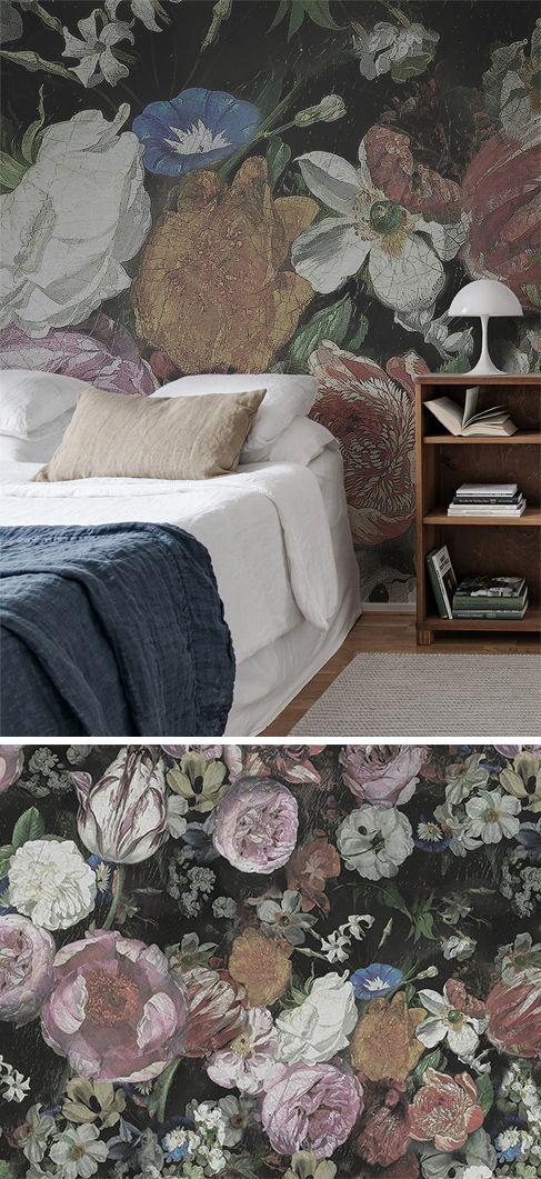Blooming Schlafzimmer Tapete Tapeten Wohnzimmer Und Rosentapete